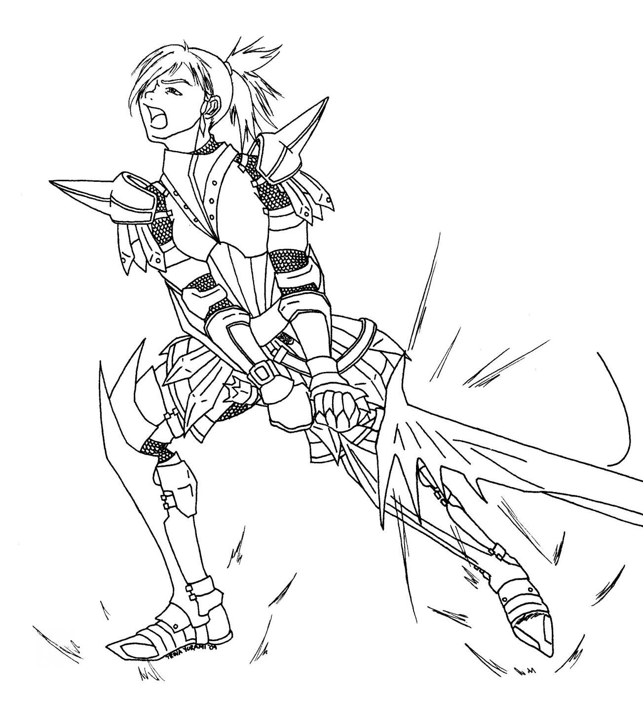 Monster Hunter coloring #2, Download drawings