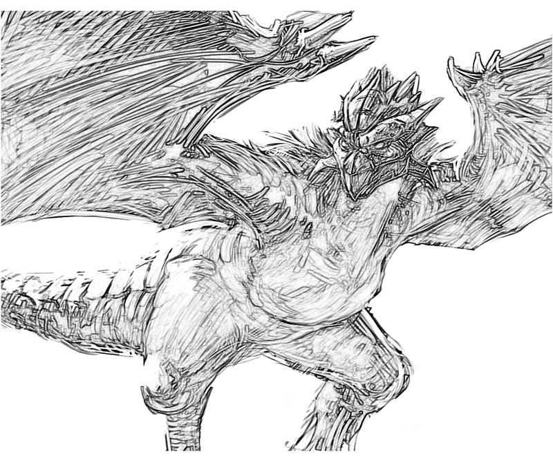 Monster Hunter coloring #3, Download drawings