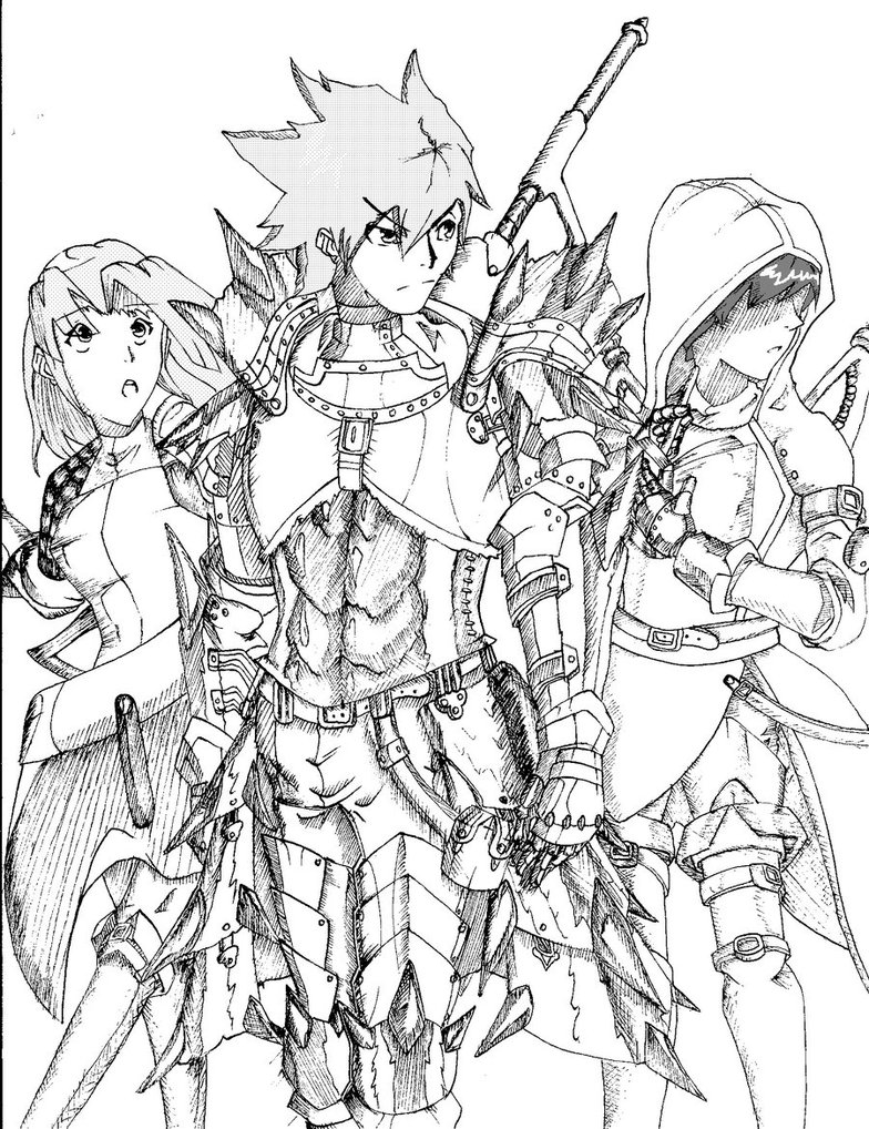 Download Monster Hunter Series coloring for free ...
