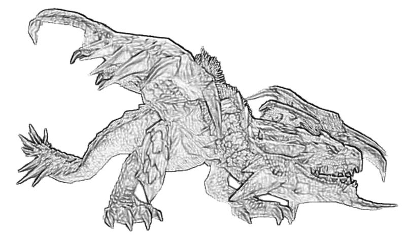 Monsterhunter coloring #2, Download drawings