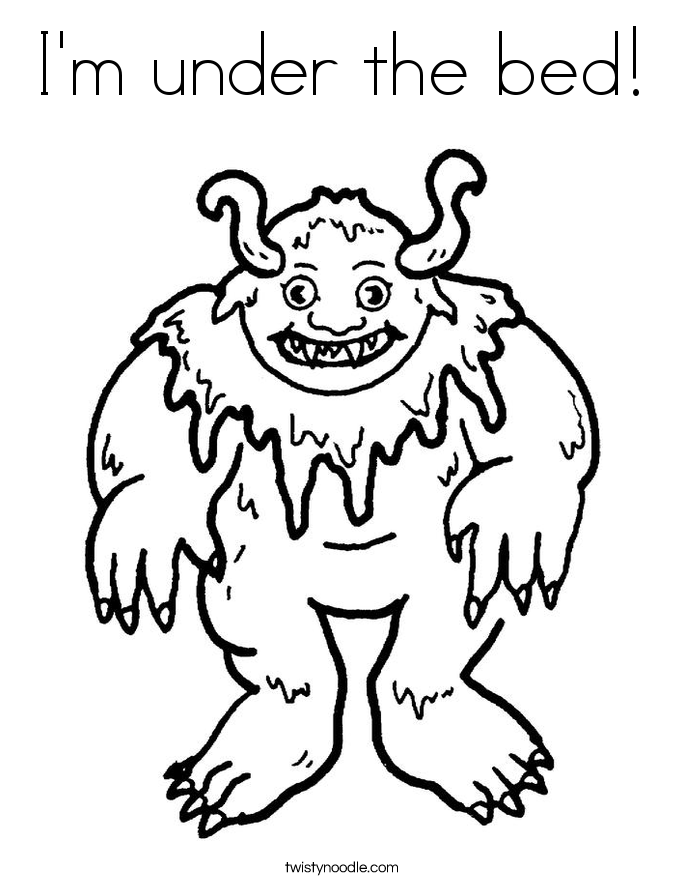 Monsters  Bed Head coloring #20, Download drawings
