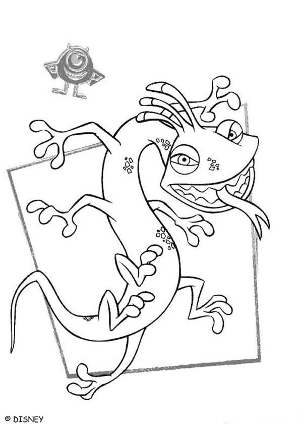 Monsters  Bed Head coloring #10, Download drawings