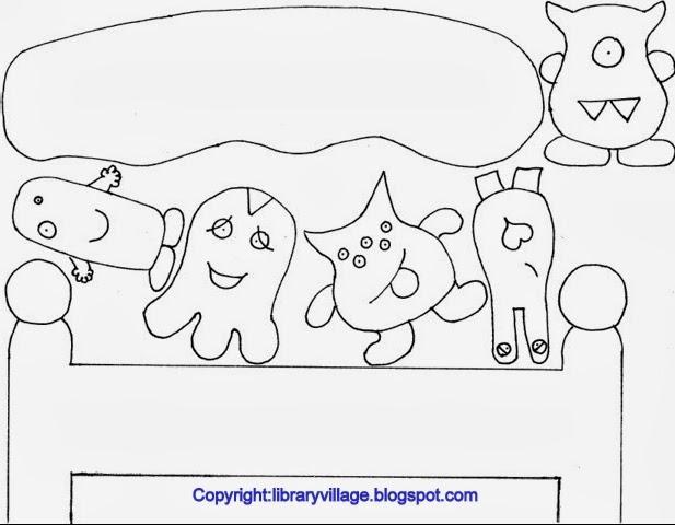 Monsters  Bed Head coloring #8, Download drawings