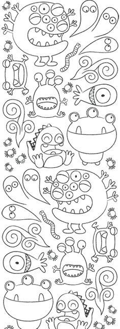 Monsters  Bed Head coloring #4, Download drawings