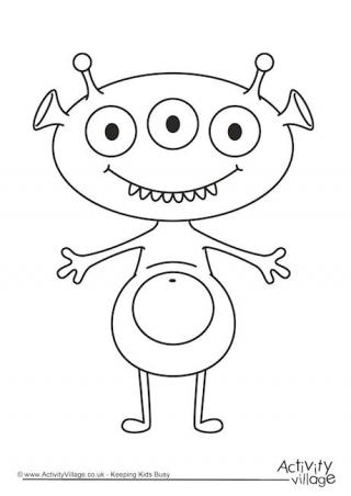Monsters  Bed Head coloring #13, Download drawings