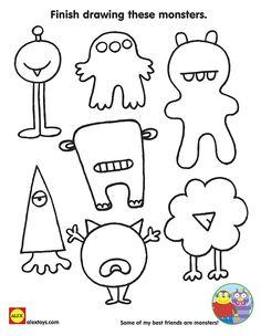 Monsters  Bed Head coloring #15, Download drawings