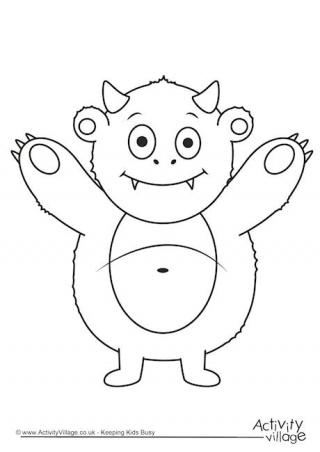 Monsters  Bed Head coloring #14, Download drawings