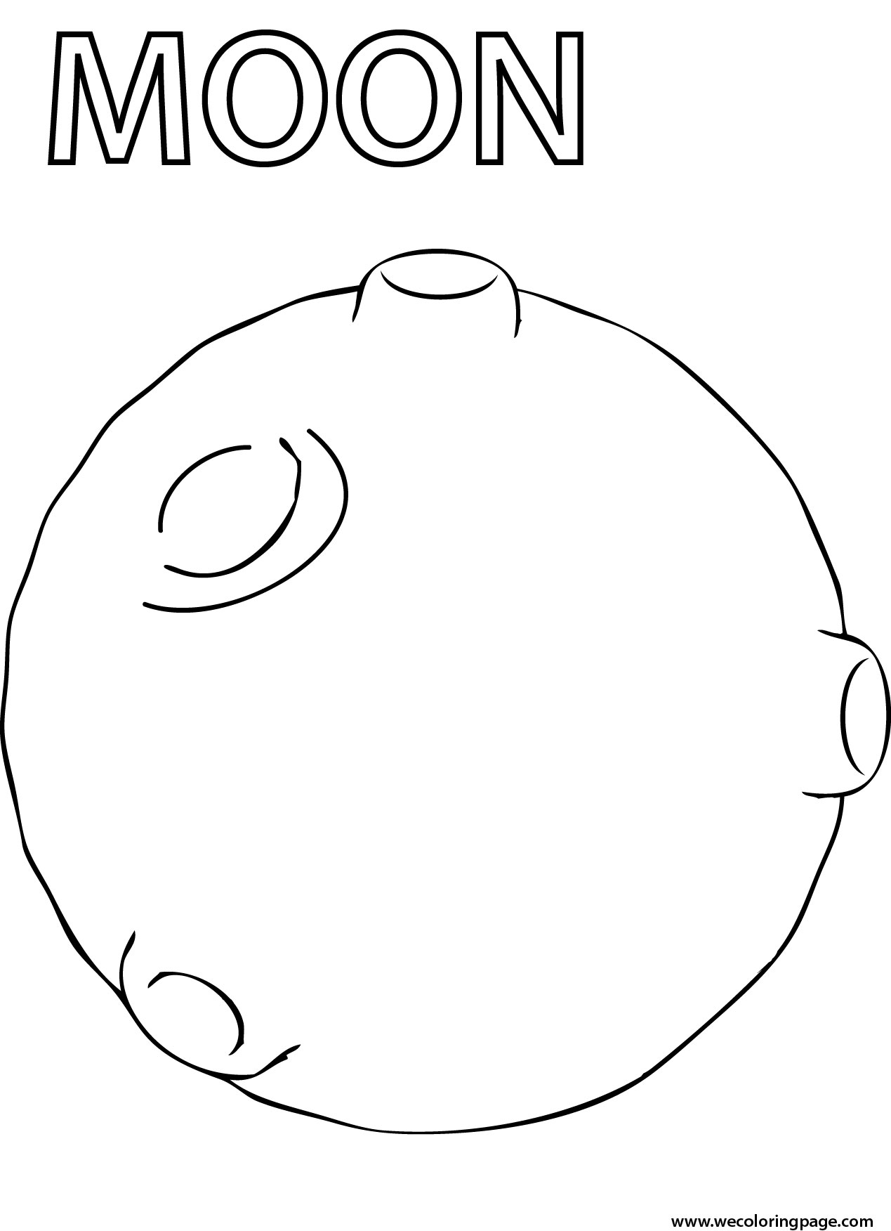Moon coloring #10, Download drawings