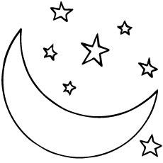 Moon coloring #16, Download drawings
