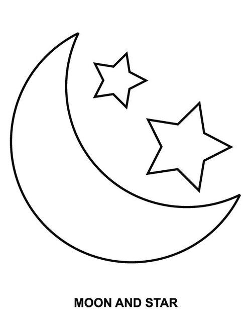 Moon coloring #1, Download drawings