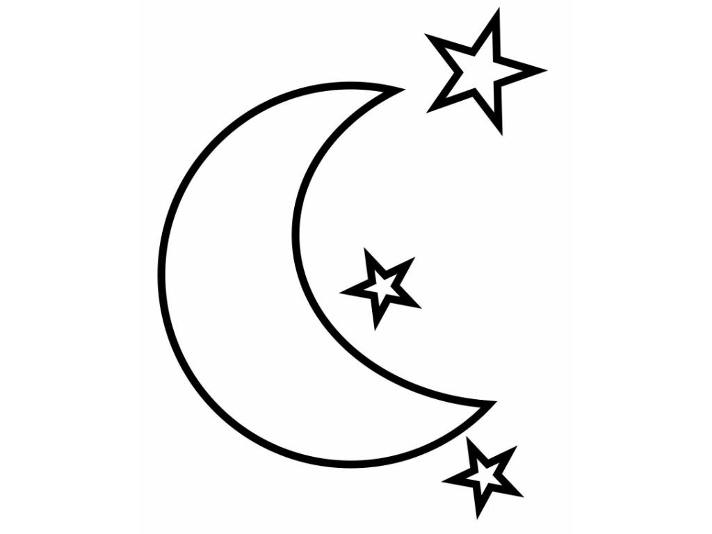 Moon coloring #8, Download drawings