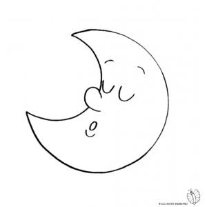 Moon coloring #4, Download drawings