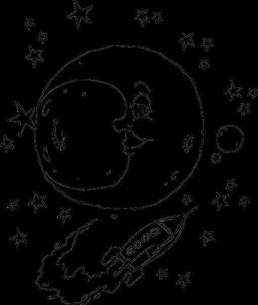Moon coloring #18, Download drawings