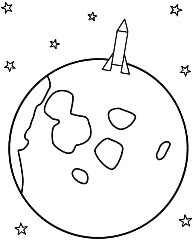 Moon coloring #13, Download drawings