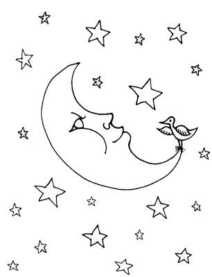 Moonloght coloring #6, Download drawings