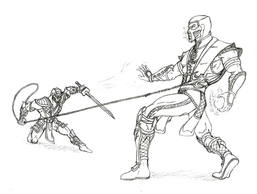 Combat coloring #5, Download drawings