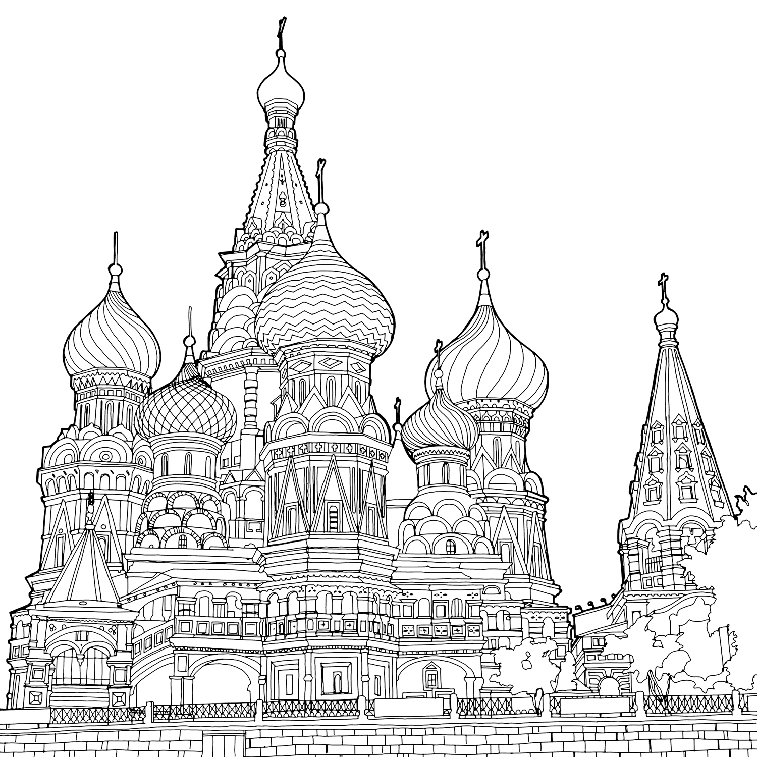 Cathedral coloring #17, Download drawings