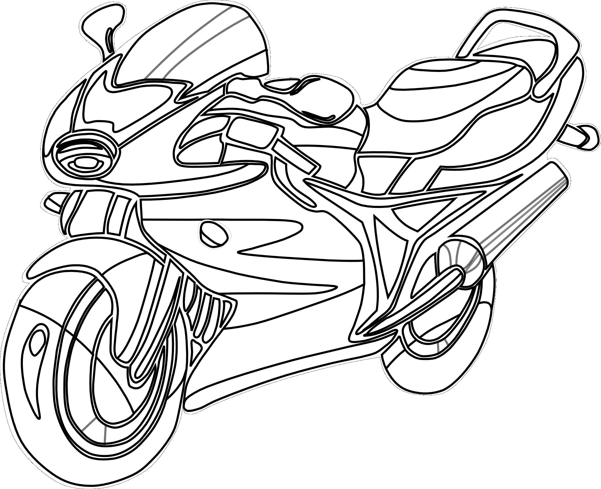 Motorcycle coloring #15, Download drawings