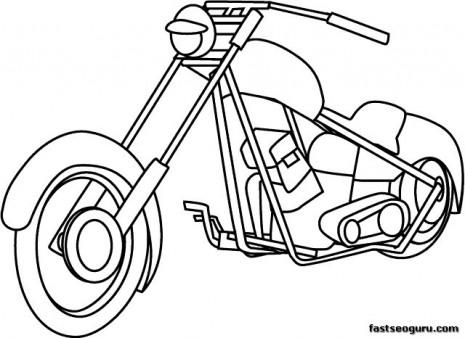 Moto coloring #7, Download drawings