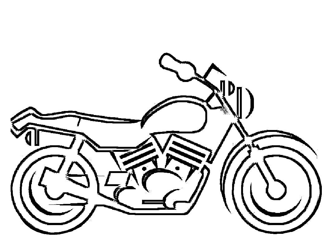 Motorcycle coloring #7, Download drawings