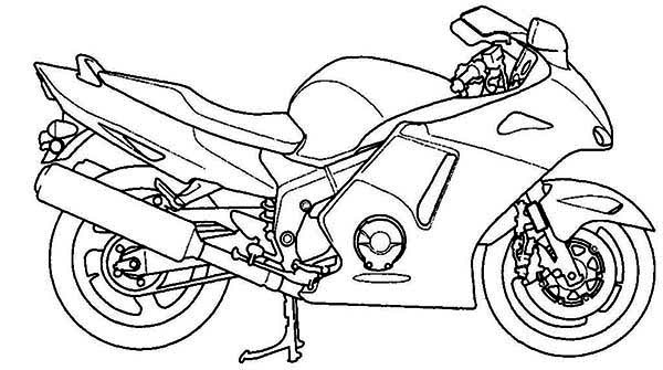 free biker coloring pages - photo#41