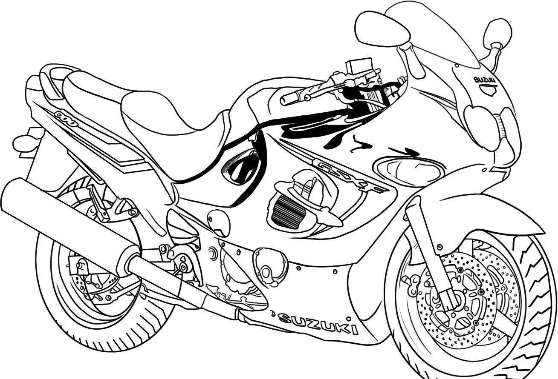 Motorcycle coloring #12, Download drawings