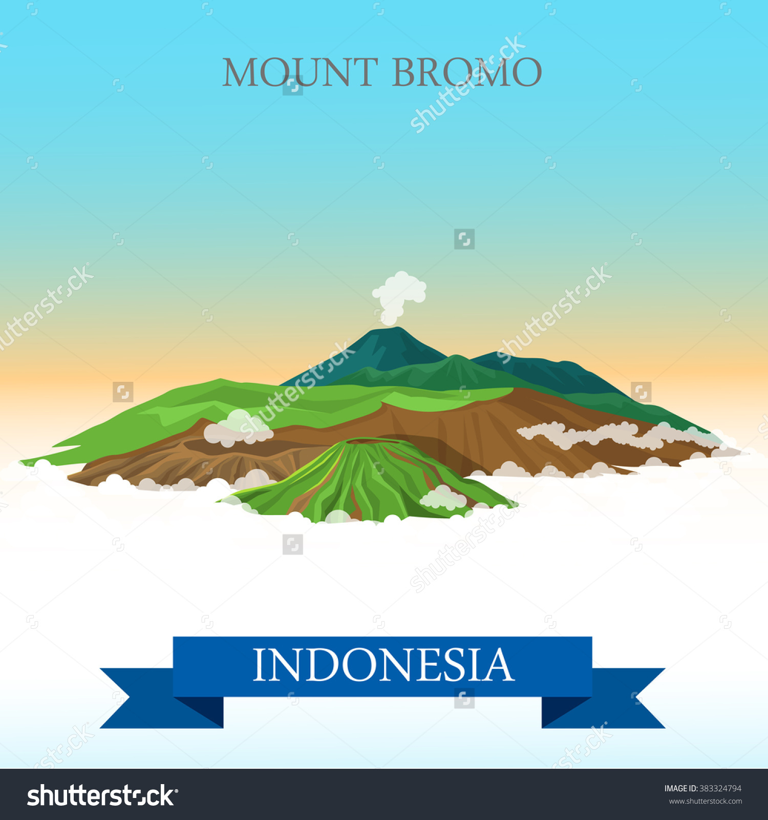 Mount Bromo clipart #1, Download drawings