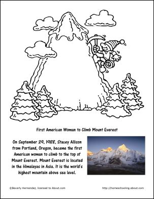 Mount Everest coloring #11, Download drawings