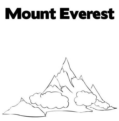 Mount Everest coloring #15, Download drawings