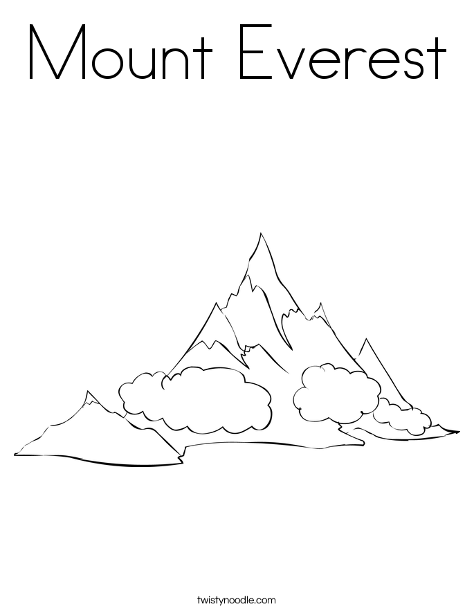 Mount Everest coloring #19, Download drawings