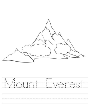 Mount Everest coloring #18, Download drawings