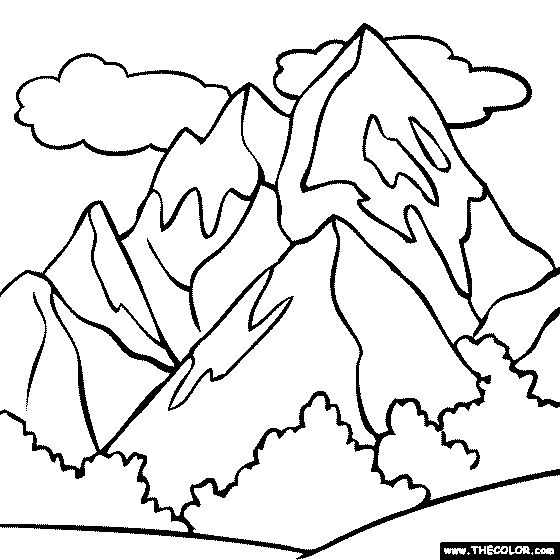 Mount Everest coloring #13, Download drawings