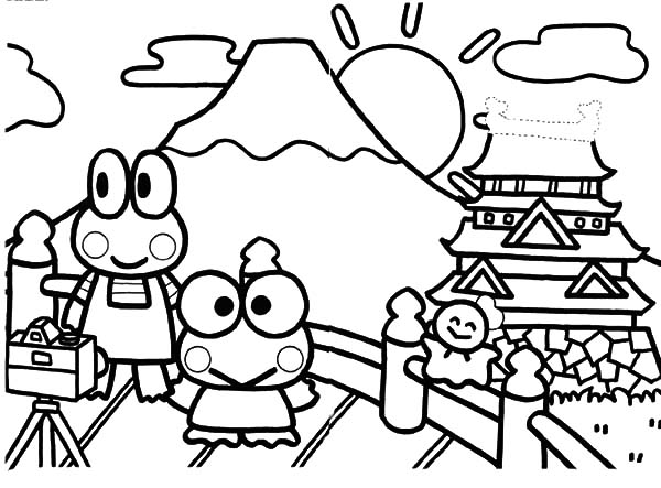 Mount Fuji coloring #7, Download drawings
