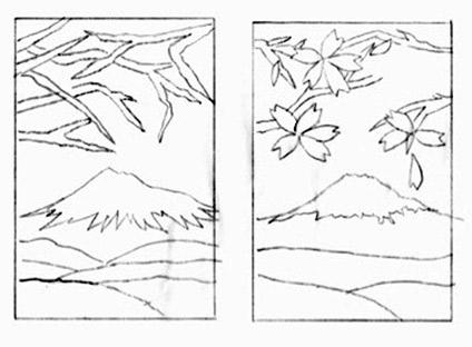 Mount Fuji coloring #13, Download drawings
