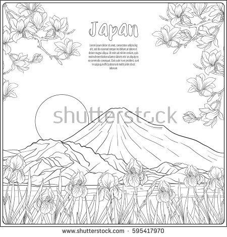 Mount Fuji coloring #19, Download drawings