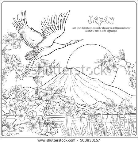 Mount Fuji coloring #10, Download drawings