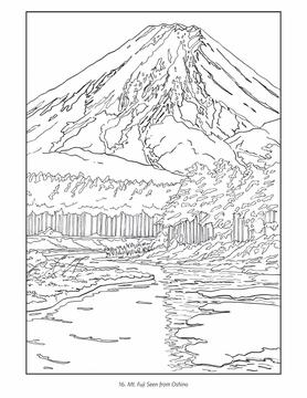 Mount Fuji coloring #11, Download drawings