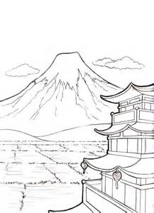 Mount Fuji coloring #9, Download drawings