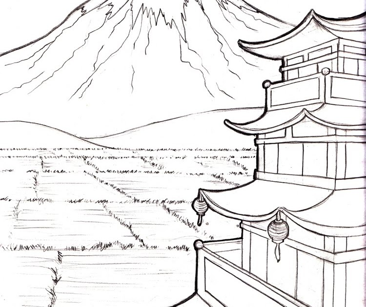 Mount Fuji coloring #5, Download drawings