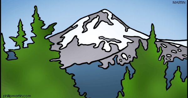 Mount Hood coloring #12, Download drawings