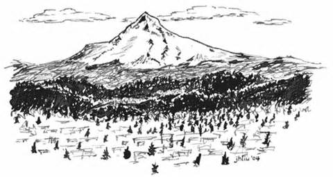 Mount Hood coloring #20, Download drawings