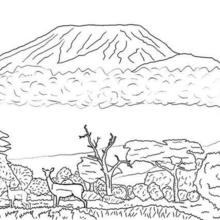 Mount Kilimanjaro coloring #3, Download drawings