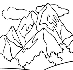 Mount Kilamanjaro coloring #14, Download drawings