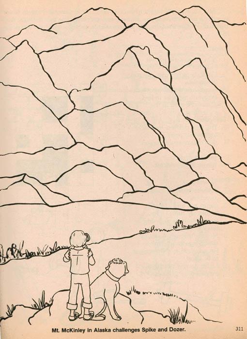 Mount McKinley coloring #4, Download drawings