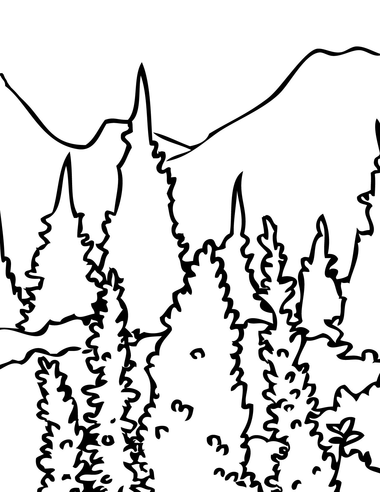 Mount Rainier coloring #15, Download drawings