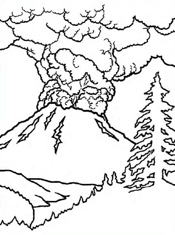 Mount St. Helens coloring #1, Download drawings
