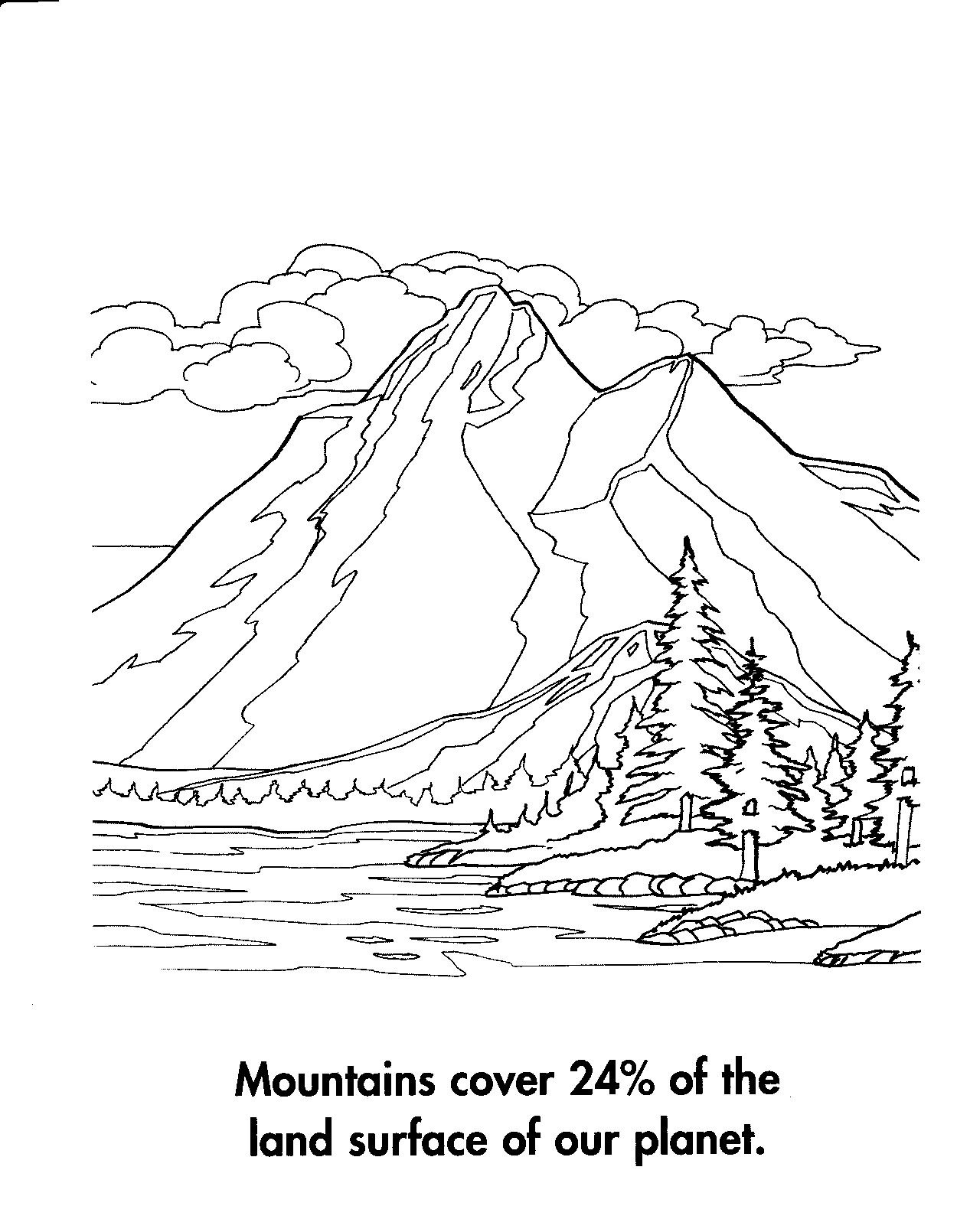 Mountain coloring #2, Download drawings