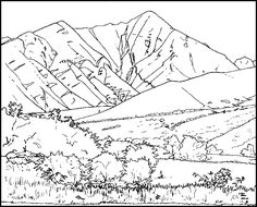 Mountain coloring #14, Download drawings