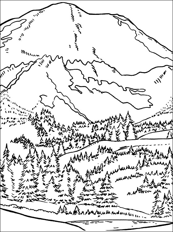 Mountain coloring #7, Download drawings