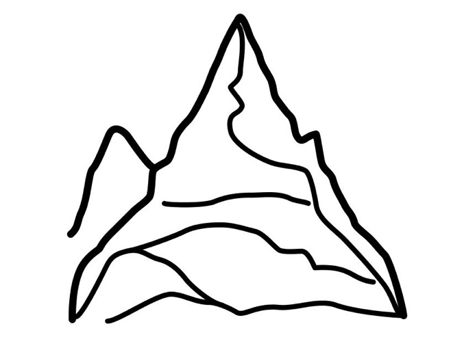 Mountain coloring #8, Download drawings